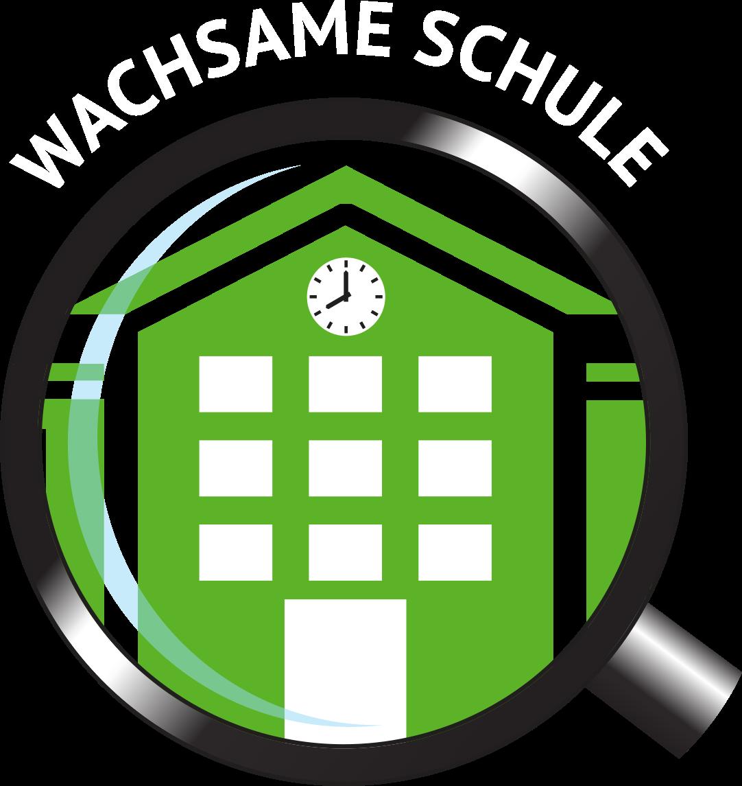 Logo_Wachsame_Schule_Schrift_Weiss_Fenster_Hell